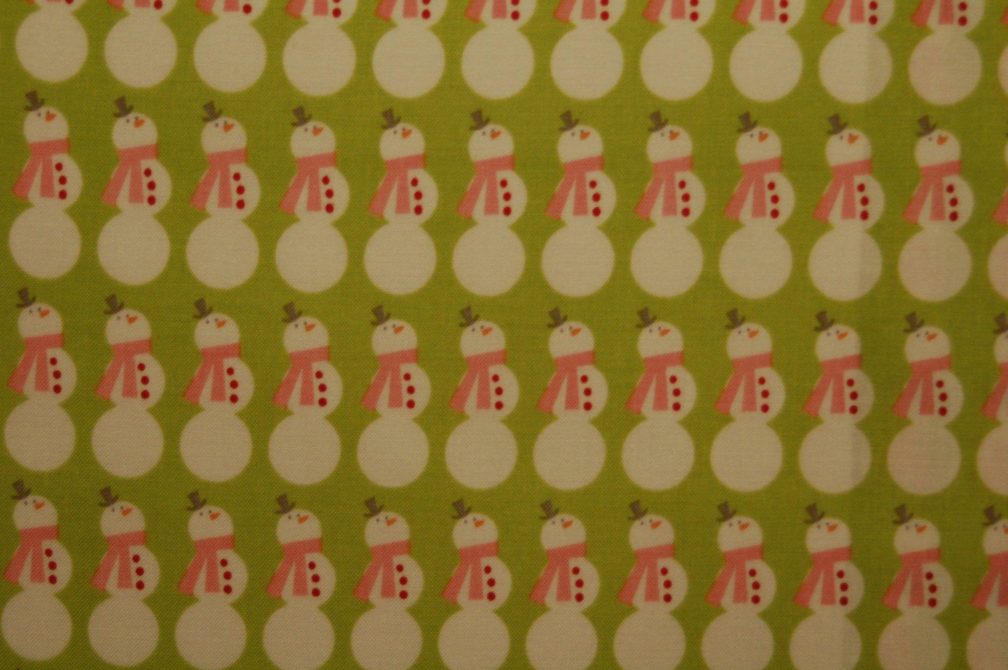 Christmas Basics - Snowmen (Lime) from Riley Blake Designs