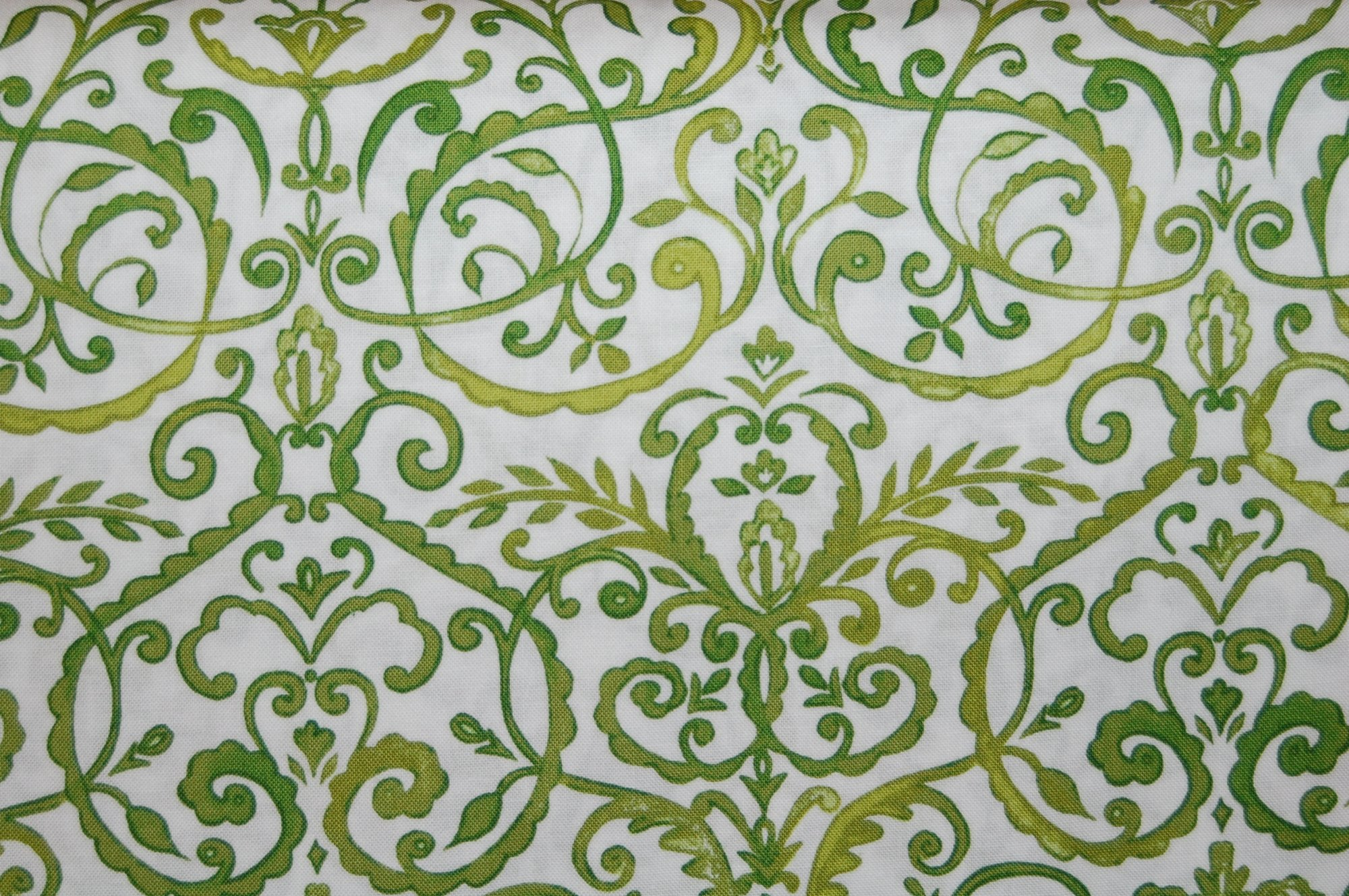 Merry Mistletoe - Scrollwork (Green) from Dena Designs for Free Spirit