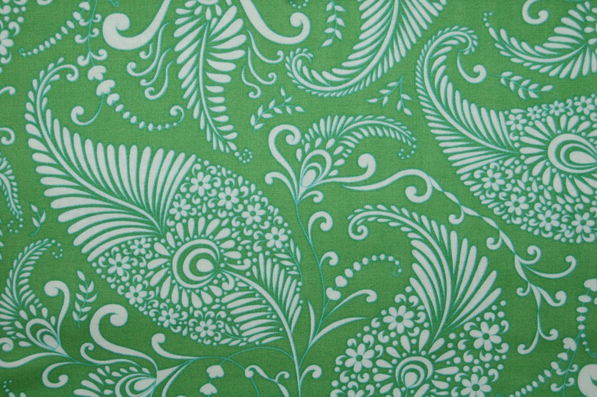 Merry Mistletoe - Paisley (Green) from Dena Designs for Free Spirit