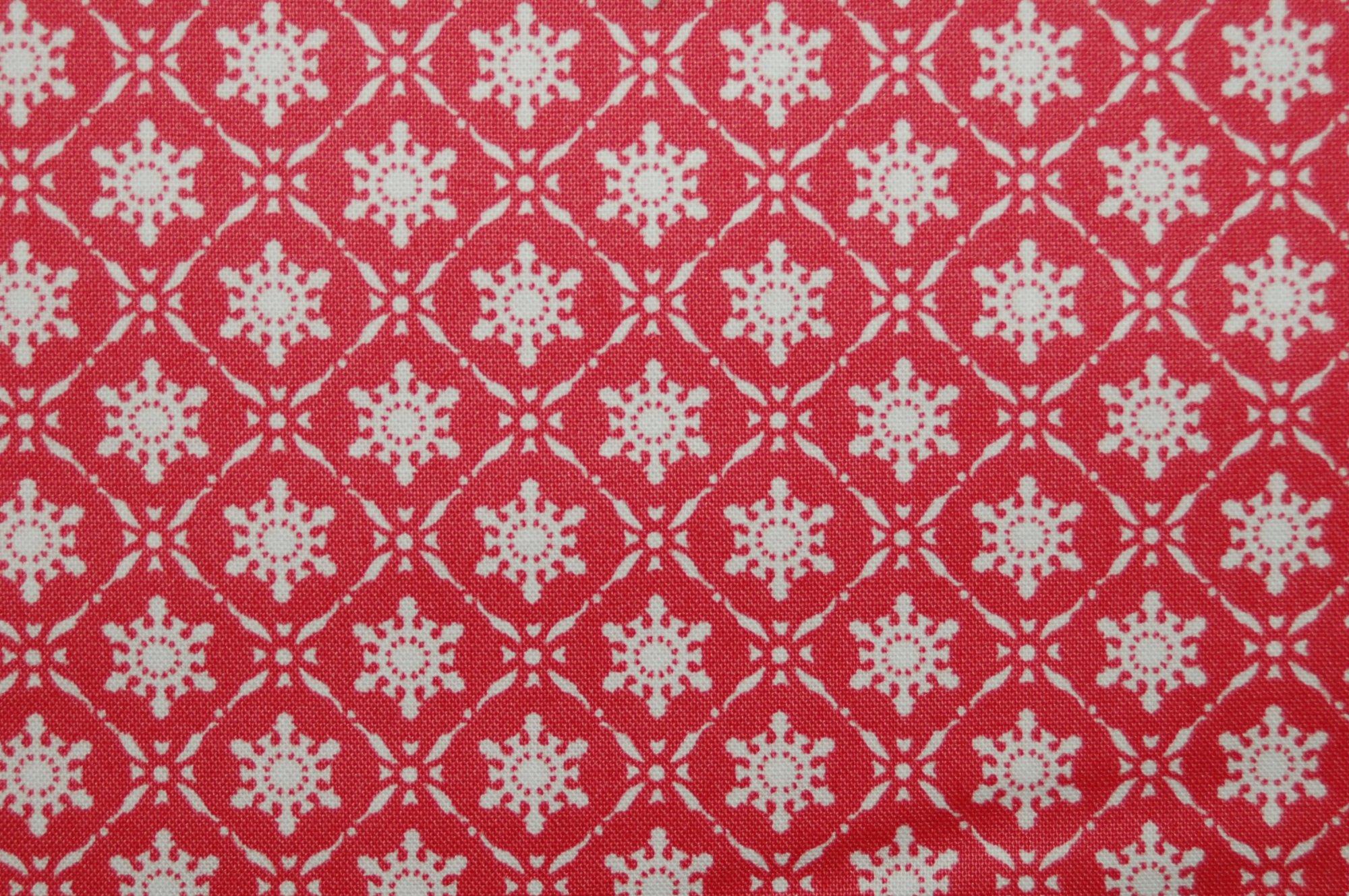 Winter Garden - Snowflake (Red) by Tanya Whelan for Free Spirit