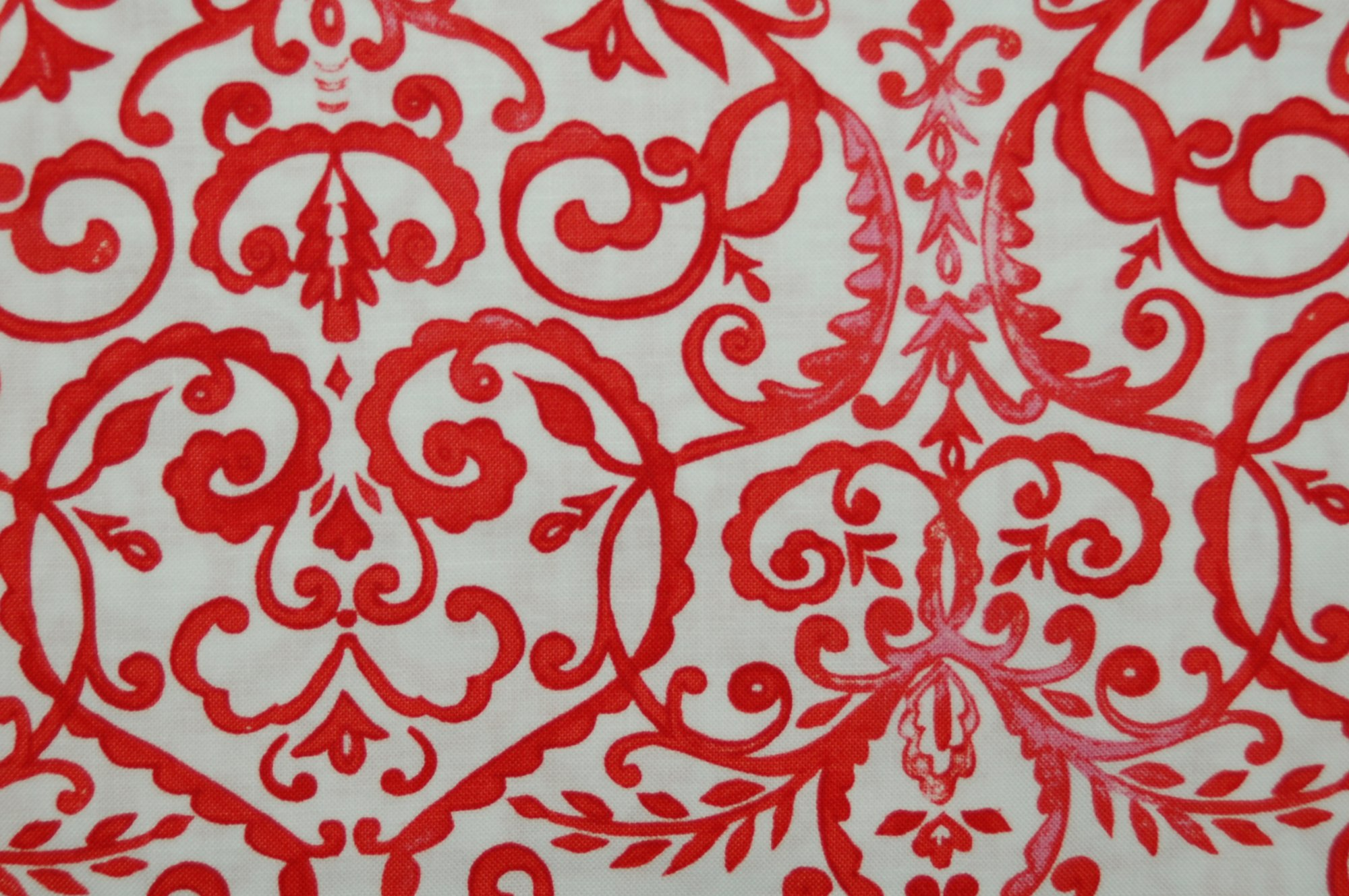 Merry Mistletoe - Scrollwork (Red) from Dena Designs for Free Spirit