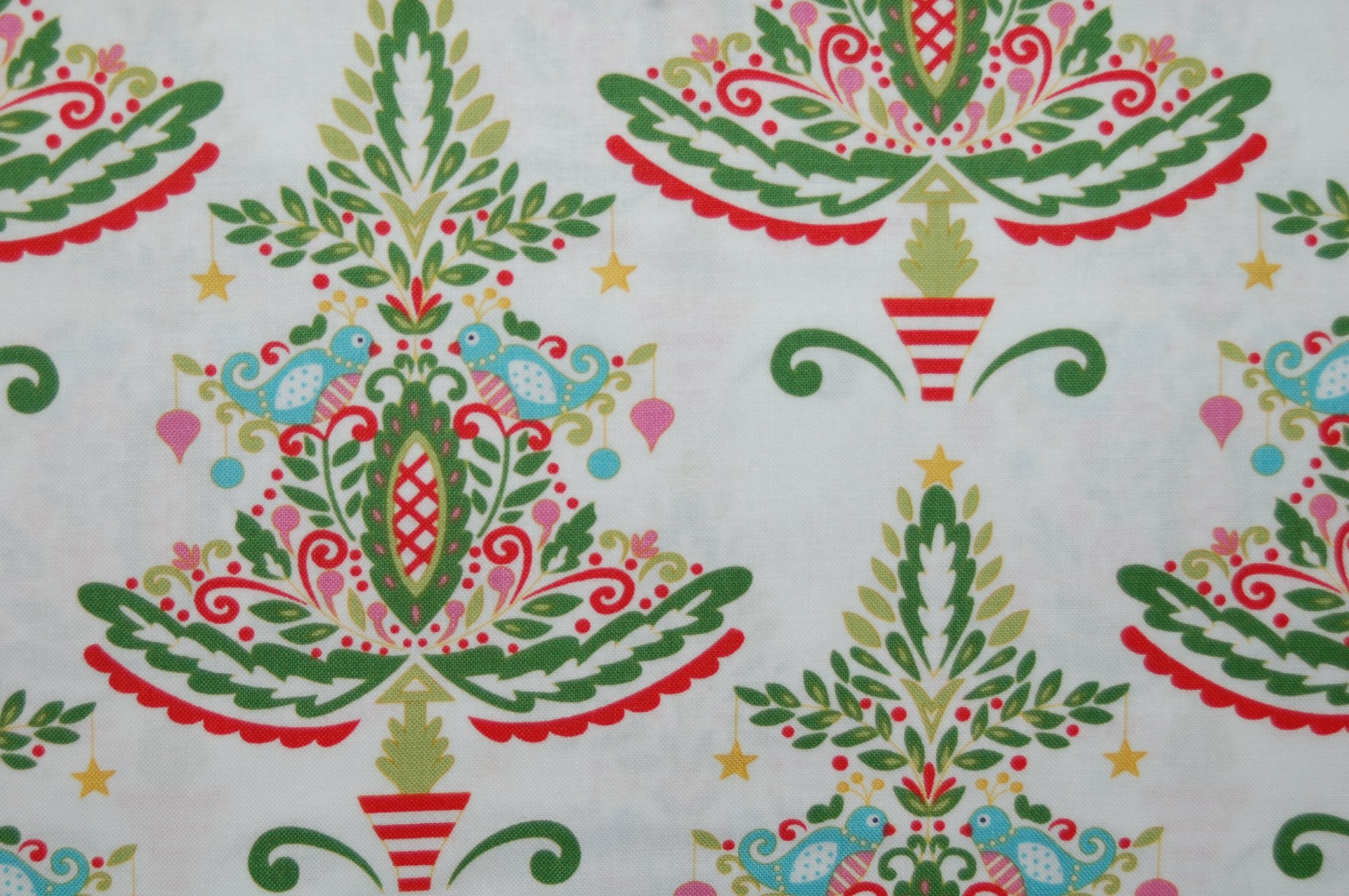 Merry Mistletoe - Partridge (White) from Dena Designs for Free Spirit