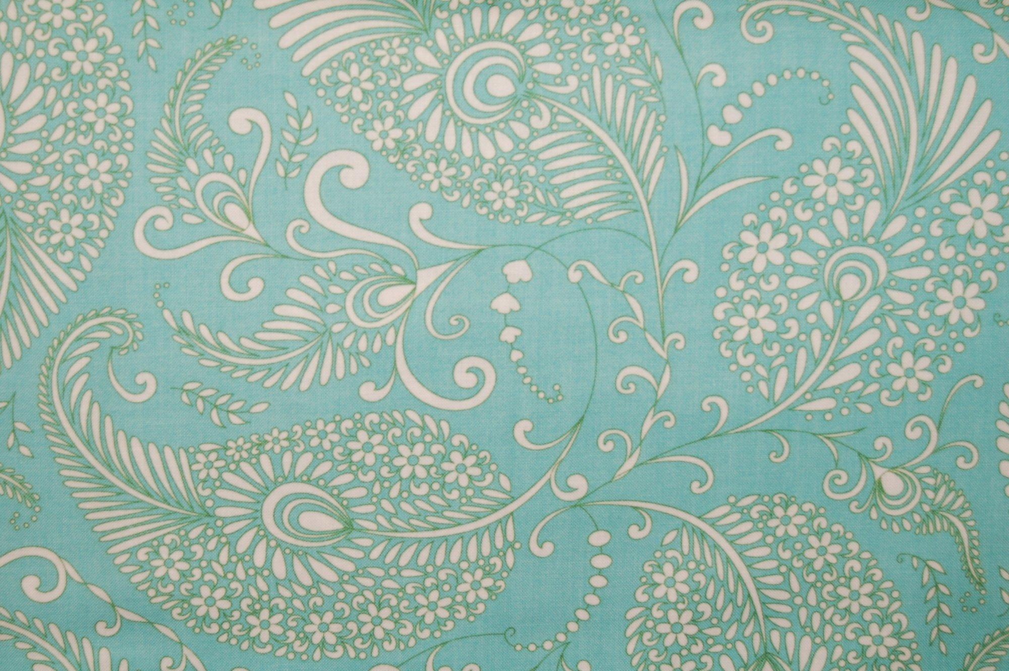 Merry Mistletoe - Paisley (Aqua) from Dena Designs for Free Spirit