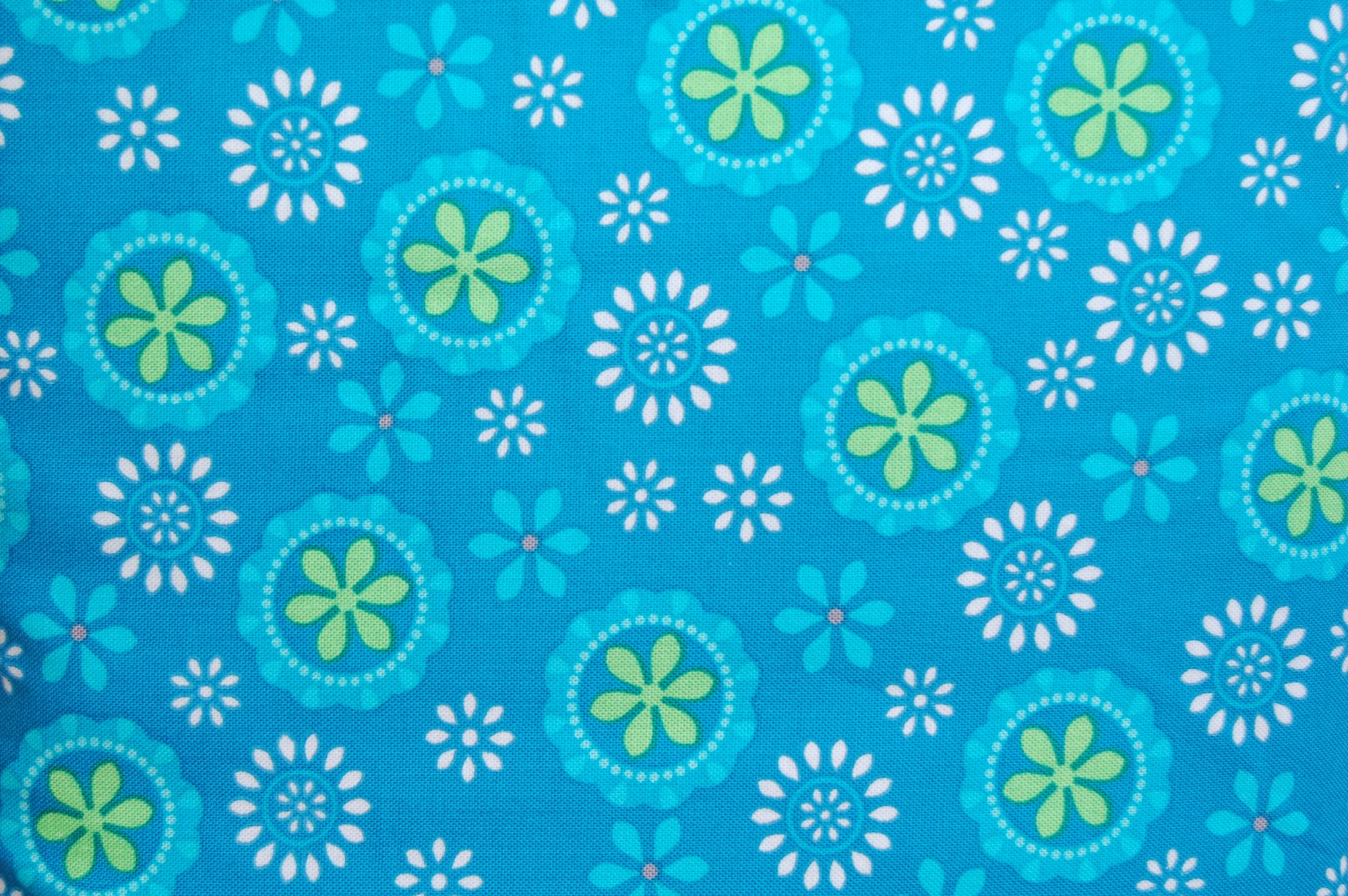 Turquoise Flower Medallions from Exclusively Quilters
