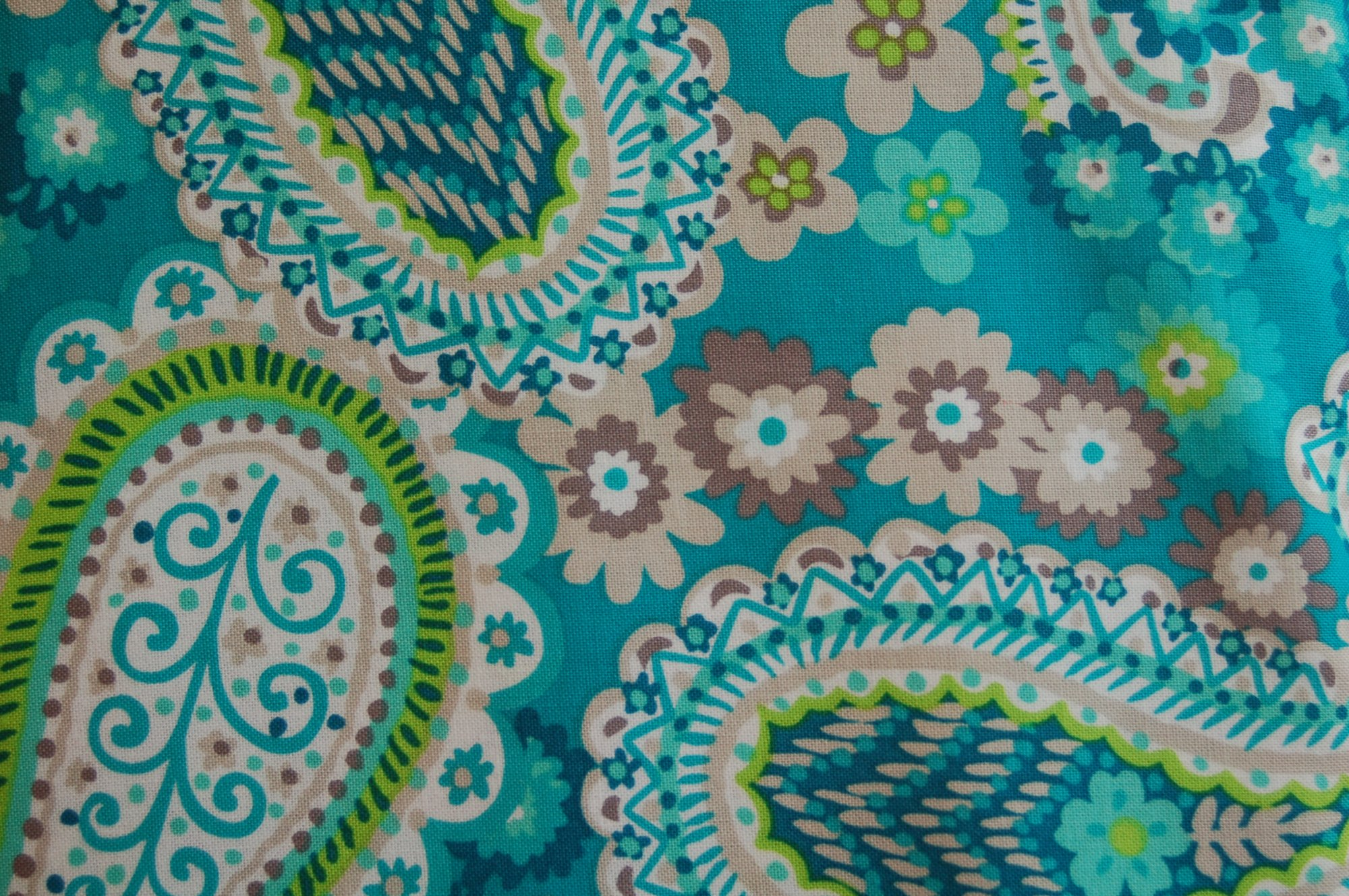 Turquoise Paisley from Exclusively Quilters