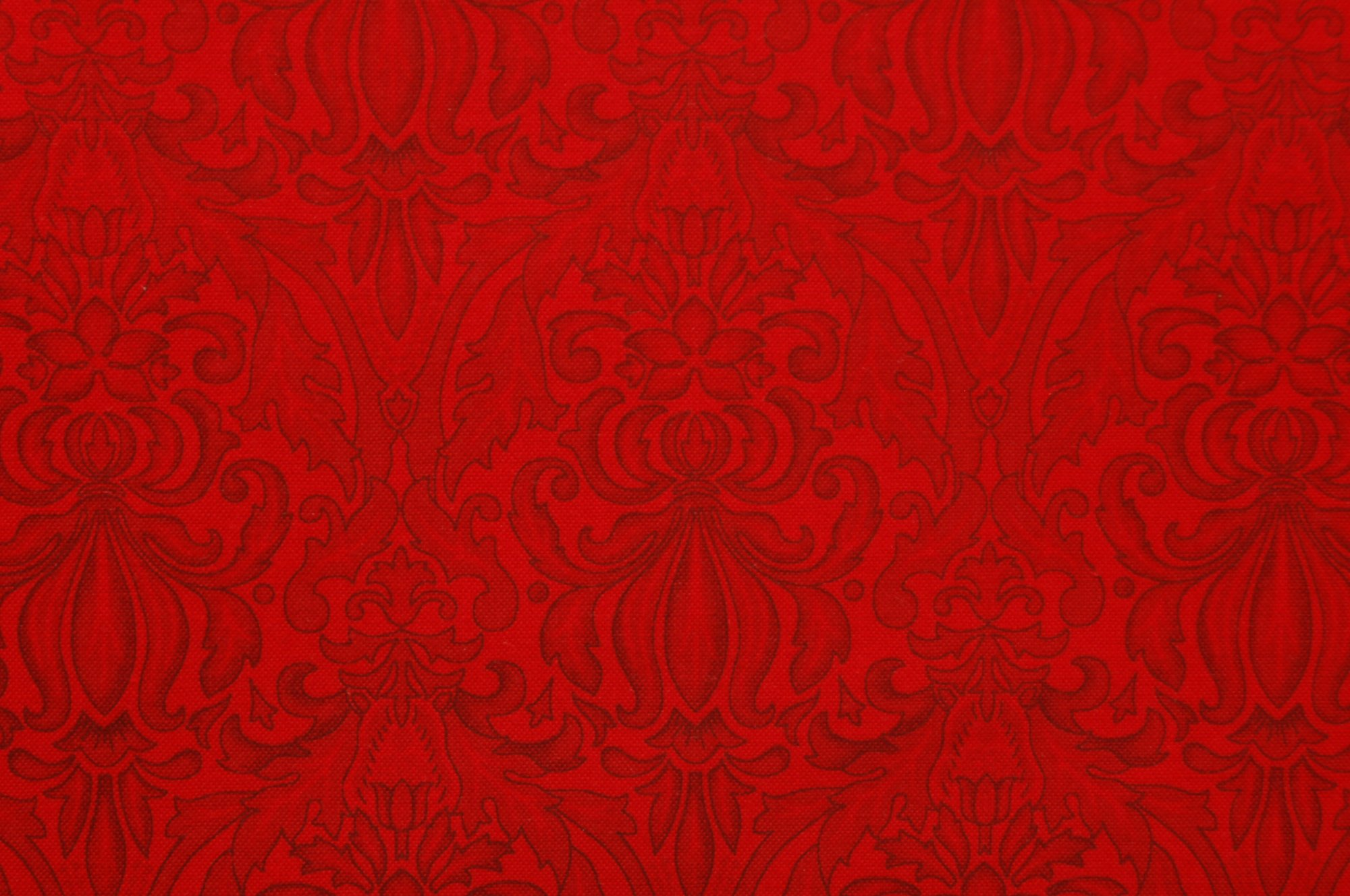 Poetica - Scroll and Motif Red from Exclusively Quilters