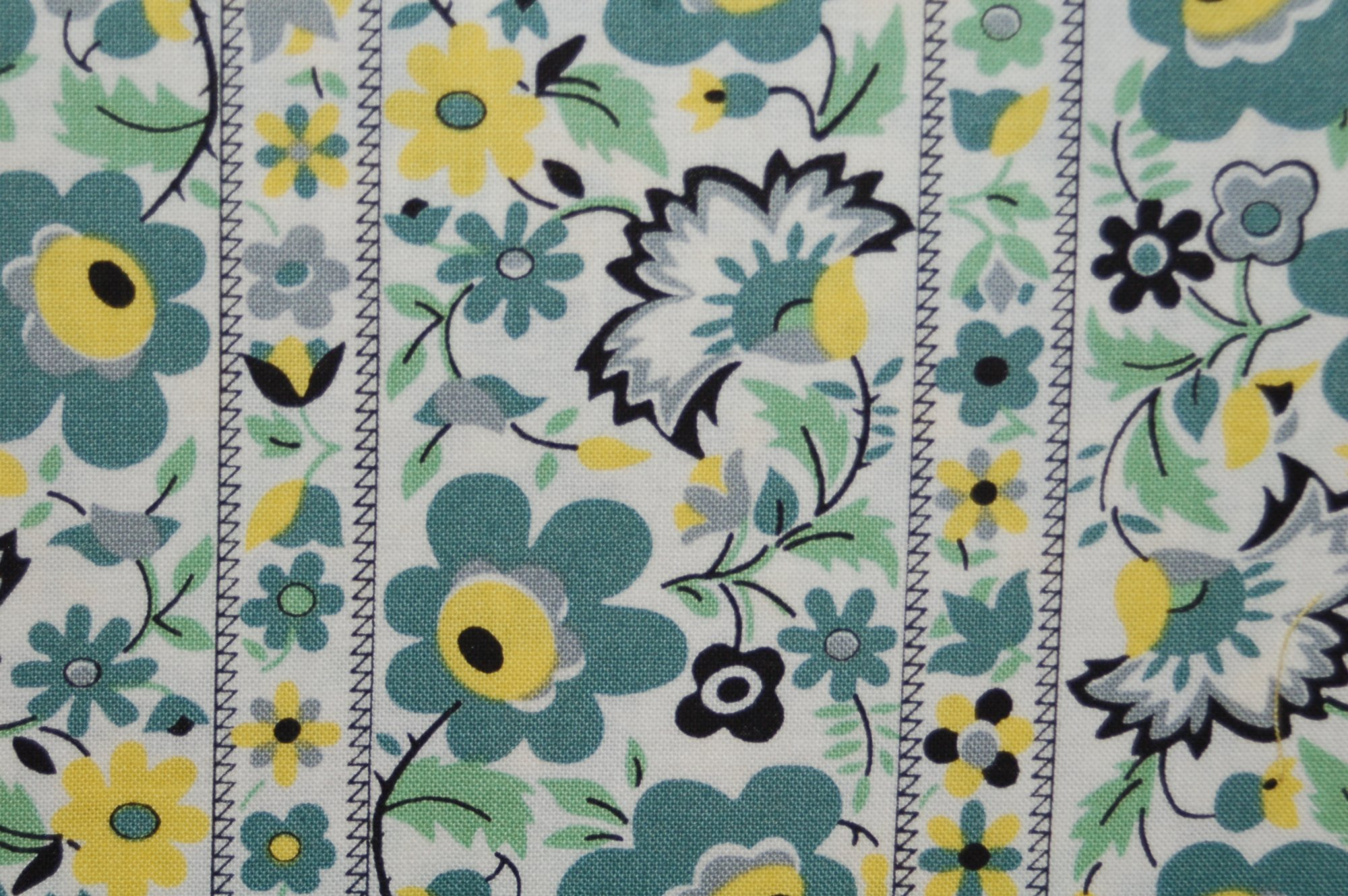 Eastham - Floral Stripe (Juniper) from Denyse Schmidt for Free Spirit Fabrics