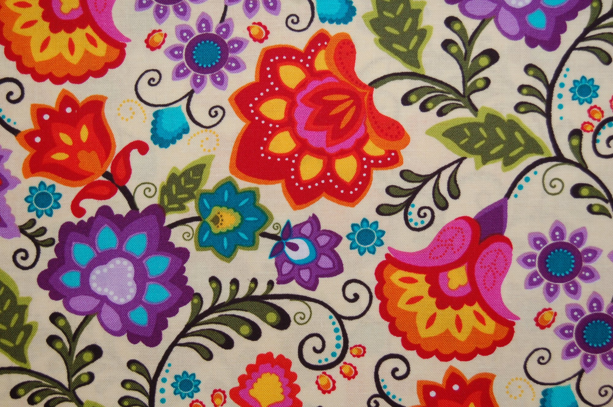 Vibrant Meadow - Folk Art Flowers from Exclusively Quilters