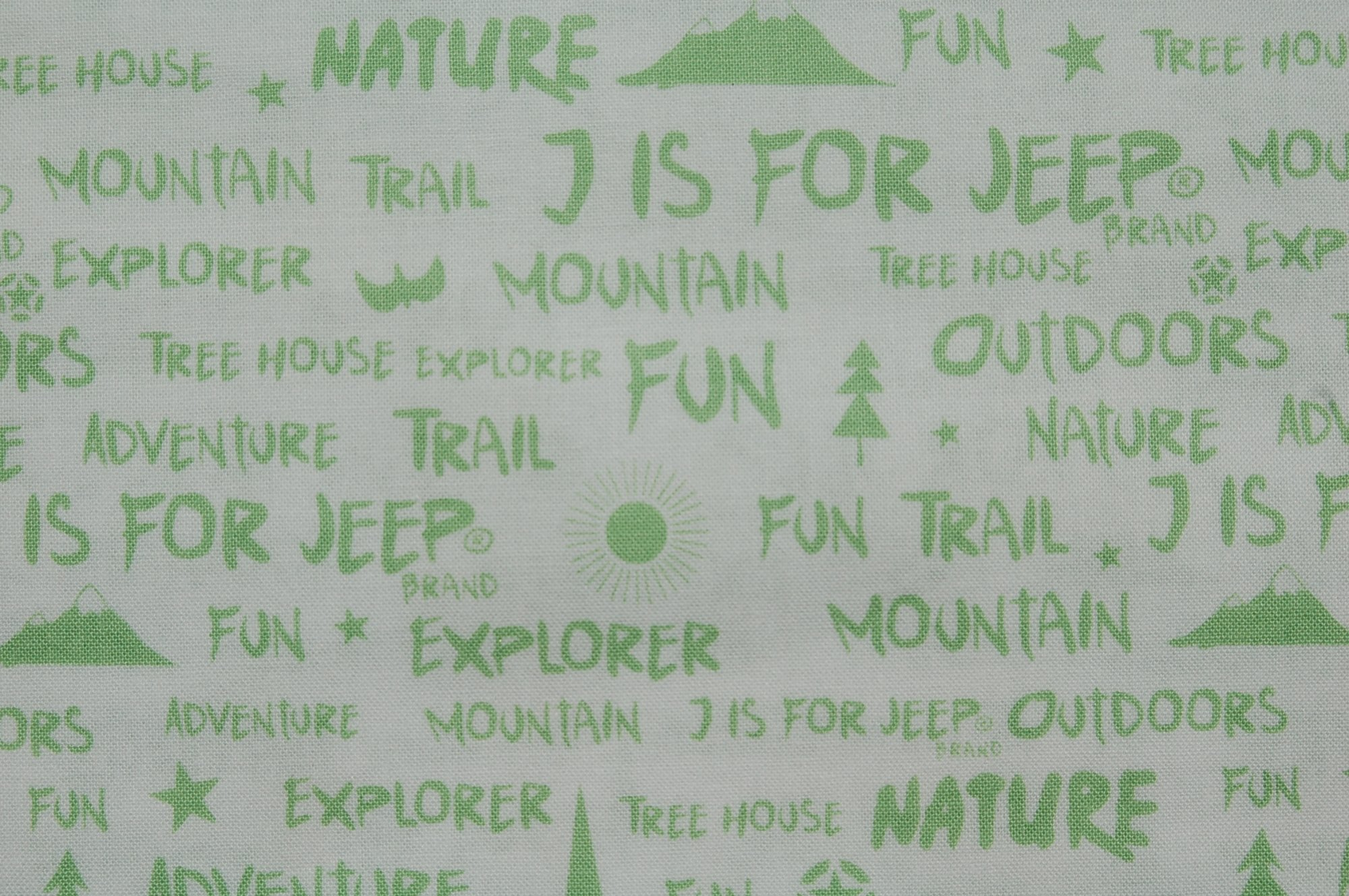 J is for Jeep Words (White) from Riley Blake