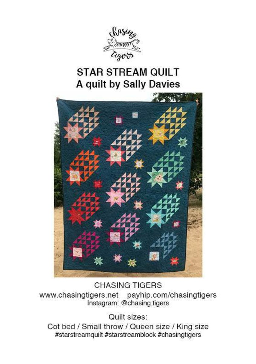 Star Stream Quilt by Sally Davies for Chasing Tigers