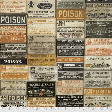 Regions Beyone Apothecary (Multi) from Tim Holtz for Free Spirit