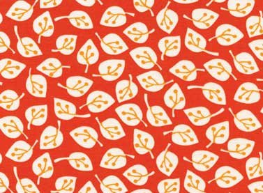 Summer Home Leaves (Orange) from Red Rooster Fabric
