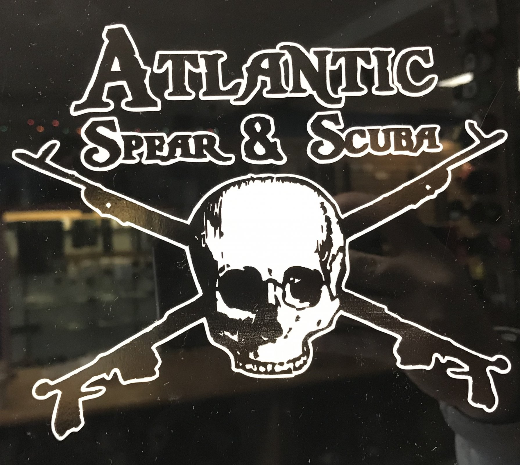 Atlantic Spear & Scuba Skull Sticker