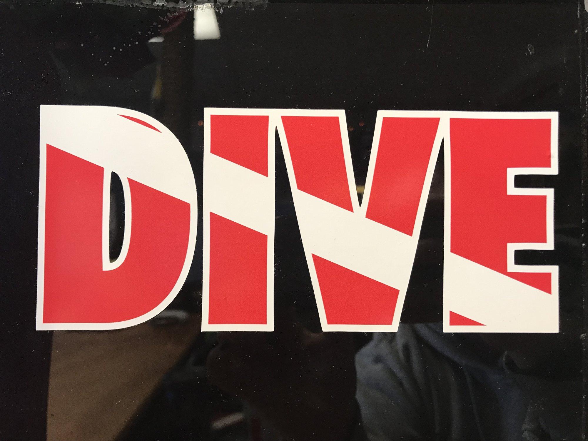 Dive Letters Sticker