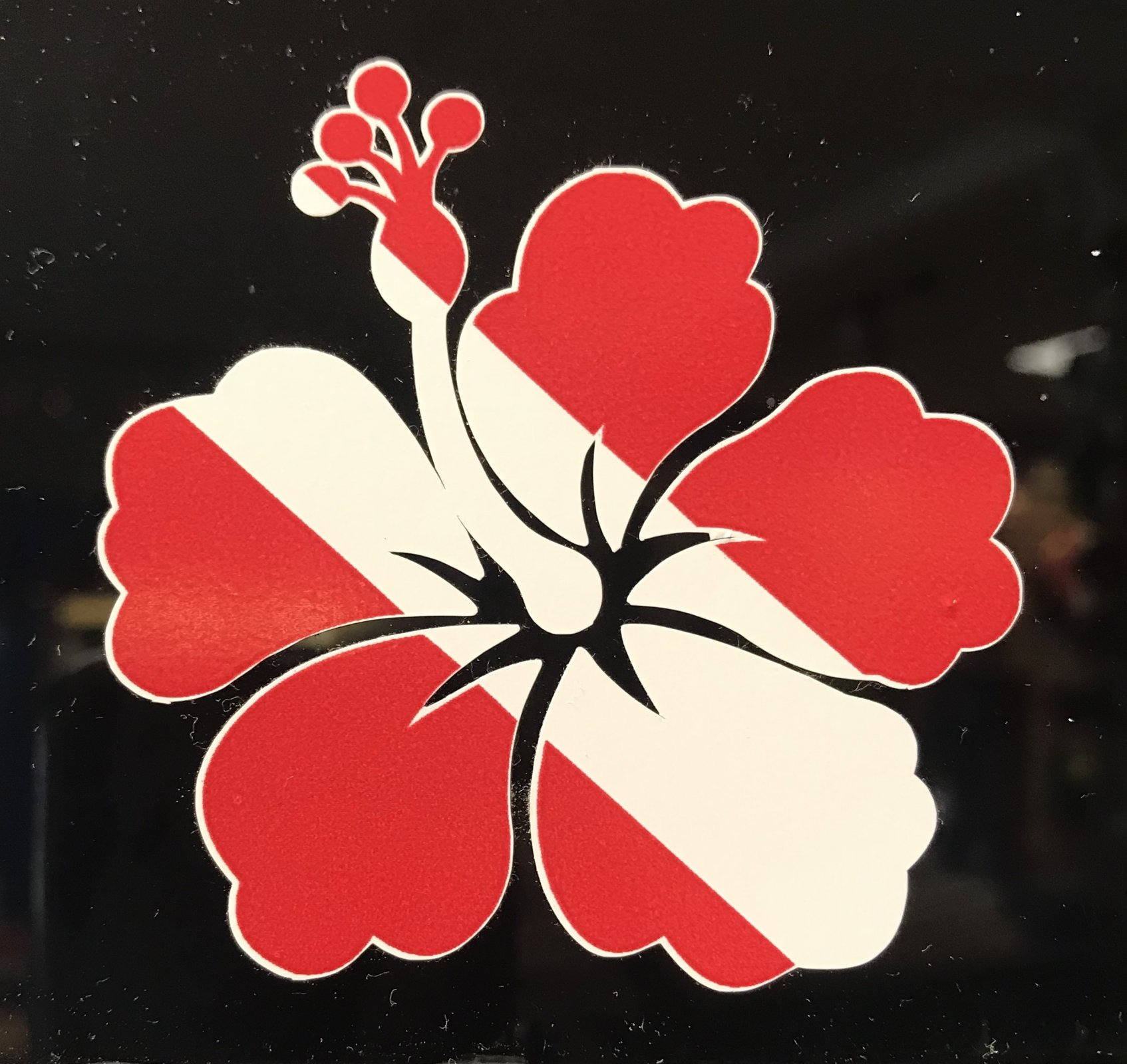 Mini Dive Hibiscus Sticker