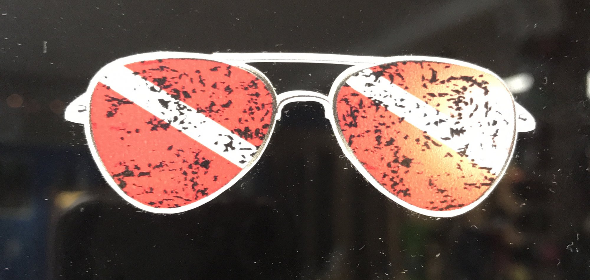 Mini Dive Sunglasses Sticker