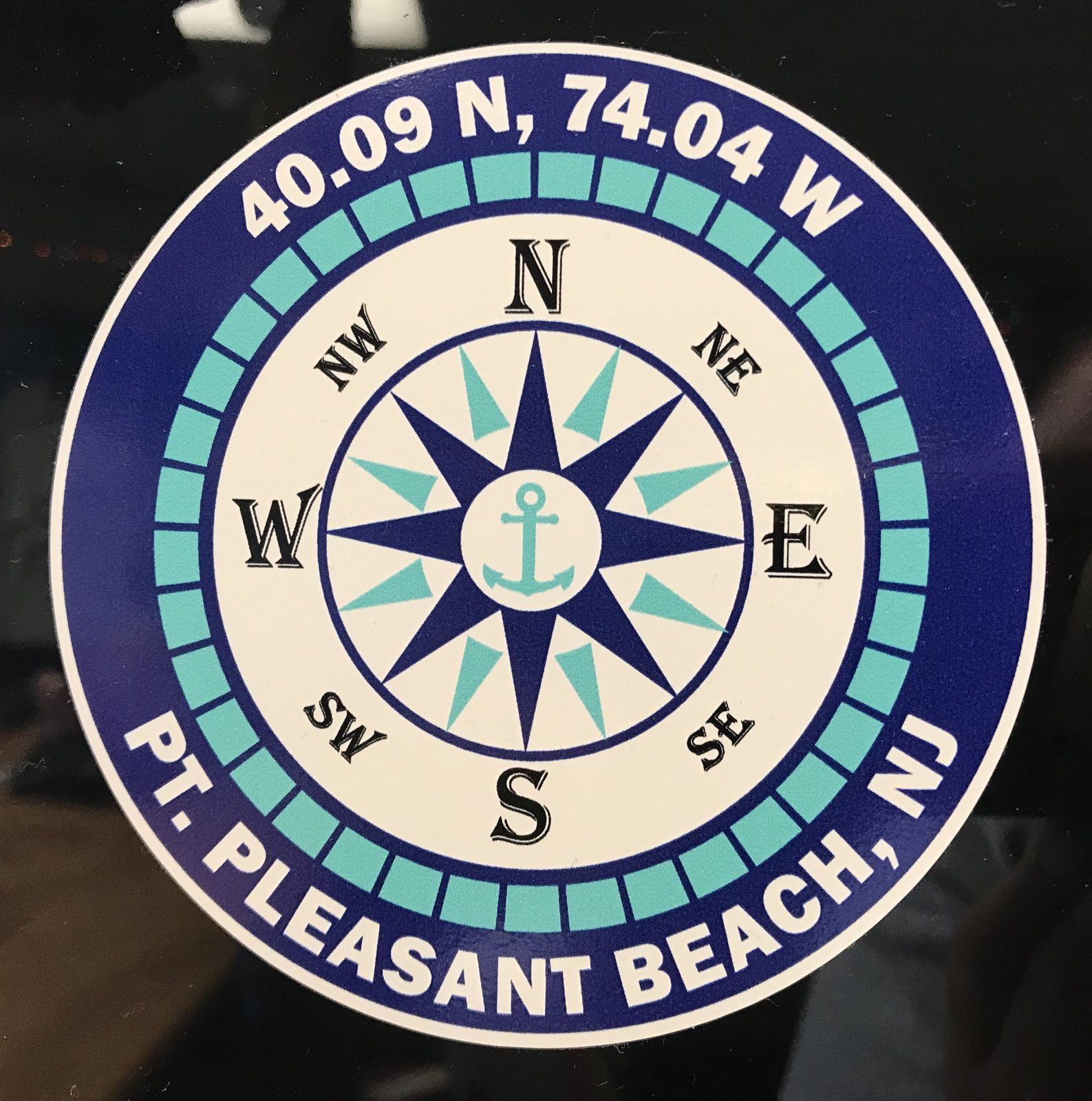 Pt. Beach Compass Sticker