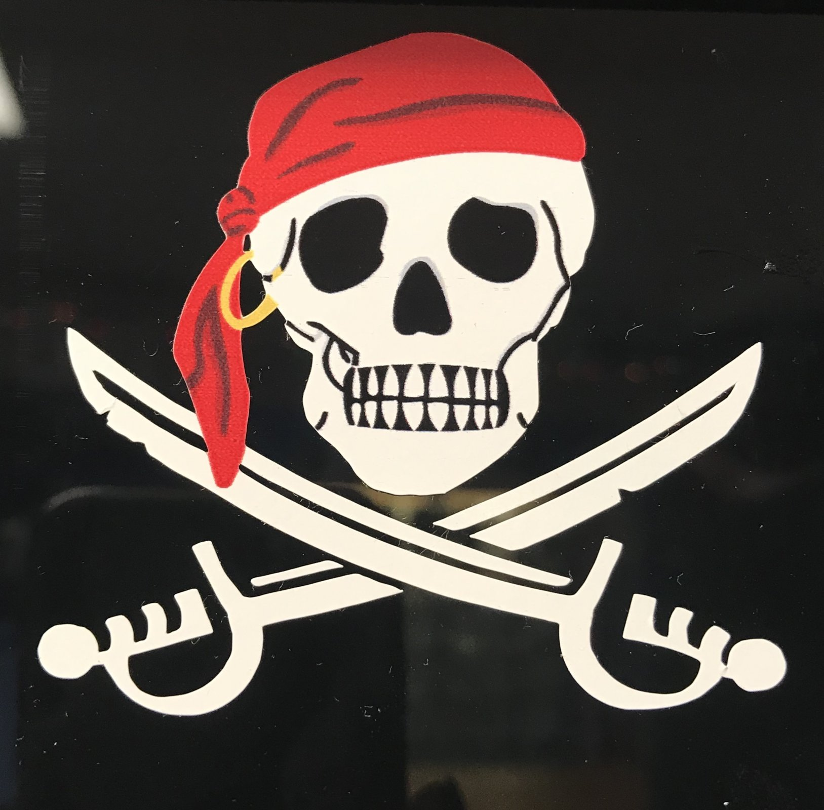 Mini Skull Pirate Sticker