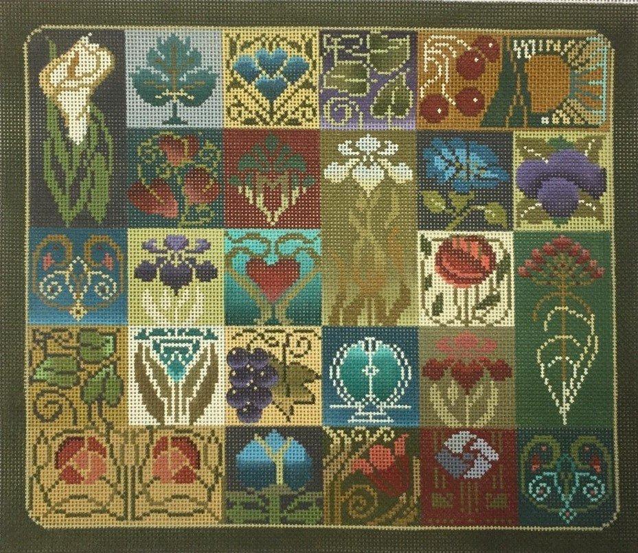 Art Nouveau Tile 2385