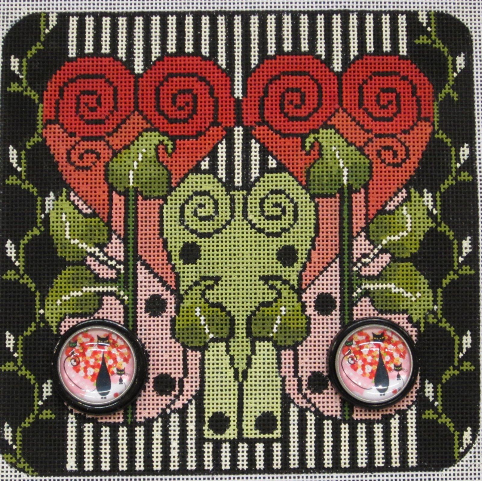 Art Nouveau Cats 2356