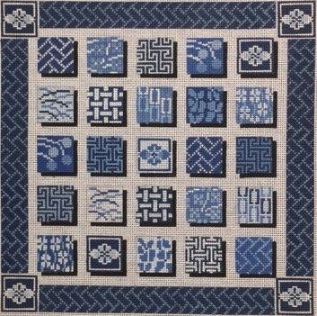 Indigo Squares #2518