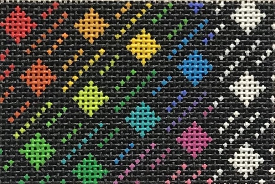 B-6 Rainbow Squares $52