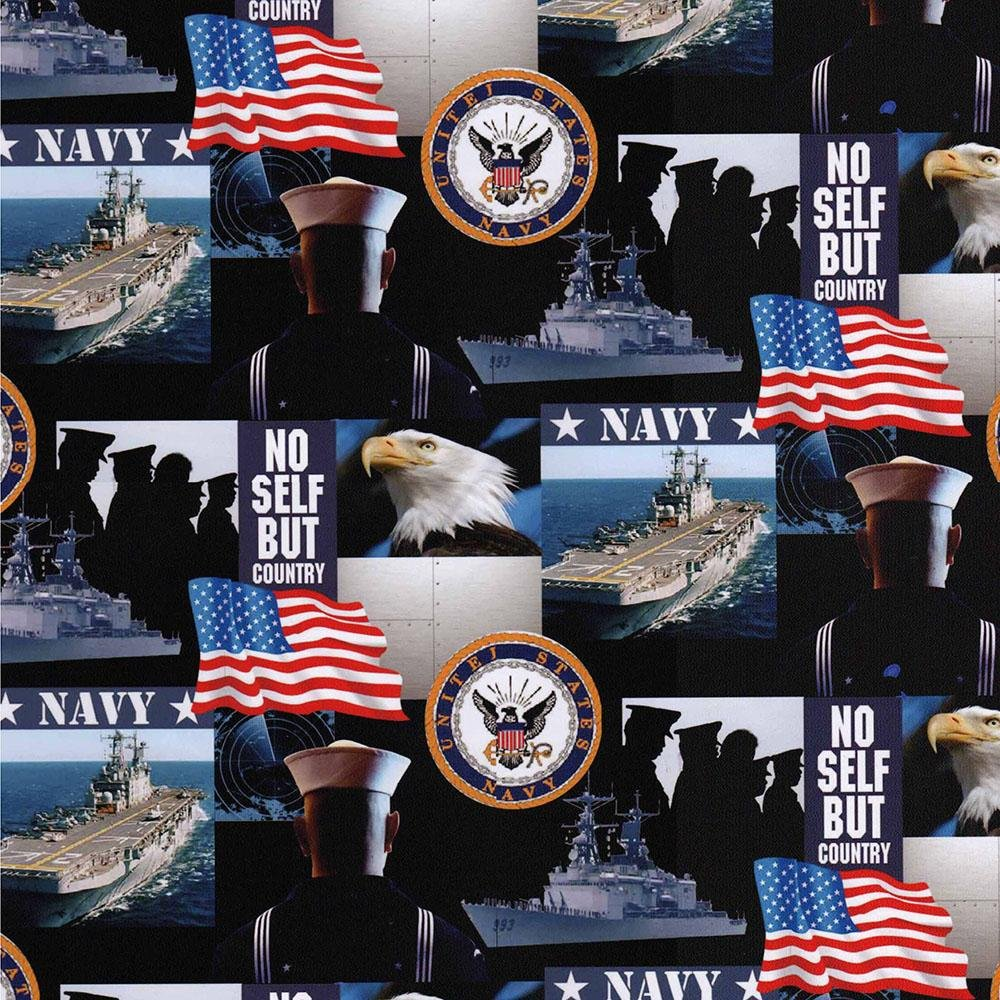 Military Prints - Allover Navy