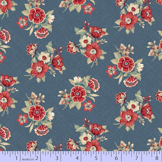 Blue Meadow - Blue Bouquets (Blue)