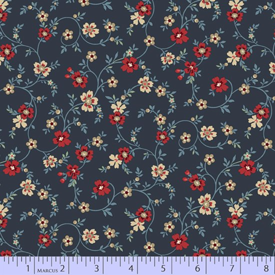 Blue Meadow - Flowery (Navy)