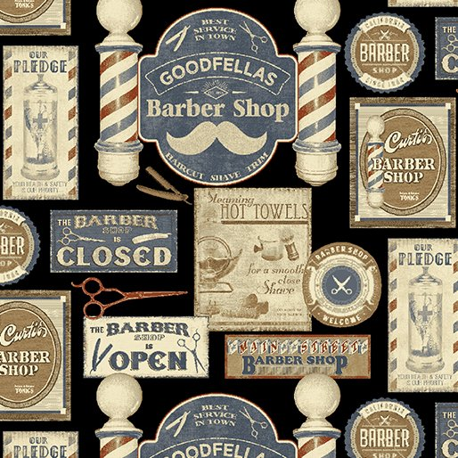 Barber Shop - Shave and Haircut (Black/Multi)
