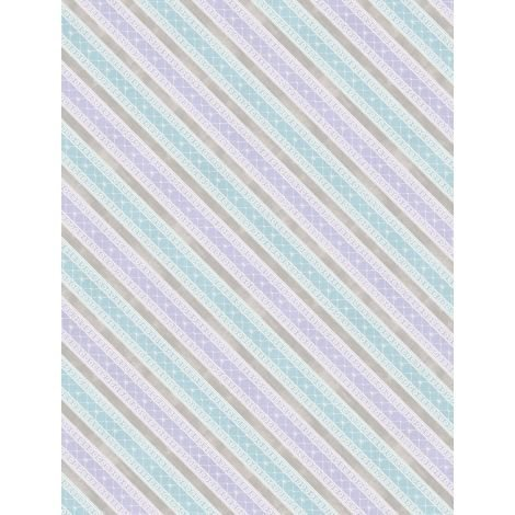 Butterfly Haven - Diagonal Stripe (Purple/Blue)