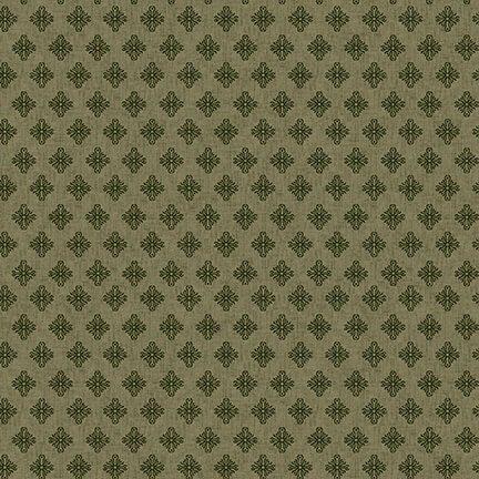 Barn Dance - Scroll Diamonds (Green)
