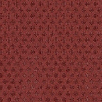 Barn Dance - Scroll Diamonds (Red)