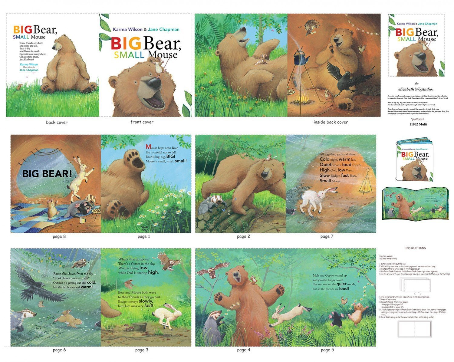 36 Book Panel - Bear and Mouse