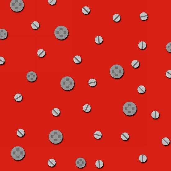 Let's Build - Construction Dots (Red)