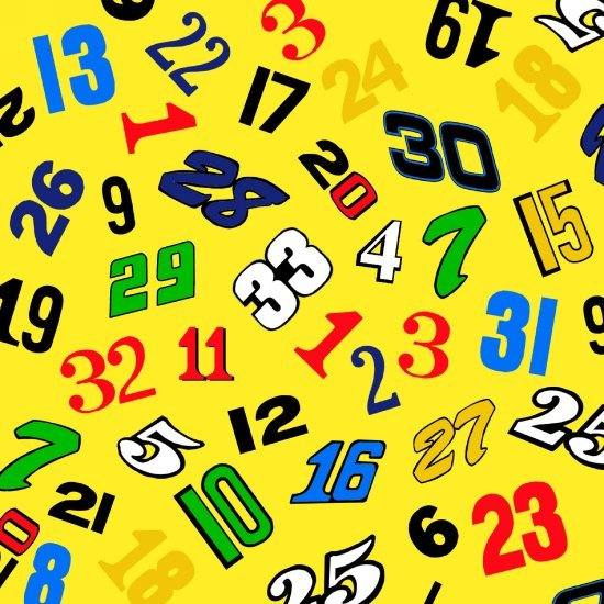 Fast Track - Race Numbers (Yellow)