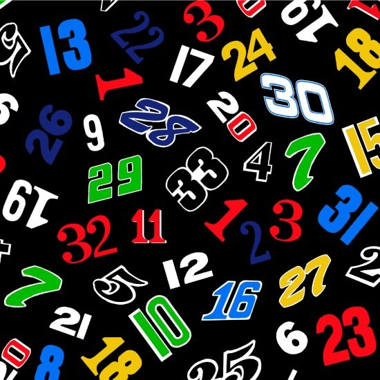 Fast Track - Race Numbers (Black)