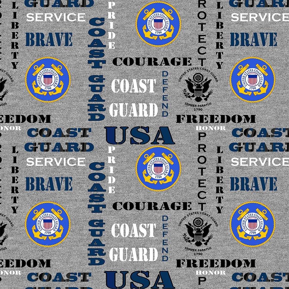 Military Prints - Coast Guard Logo (Heather)