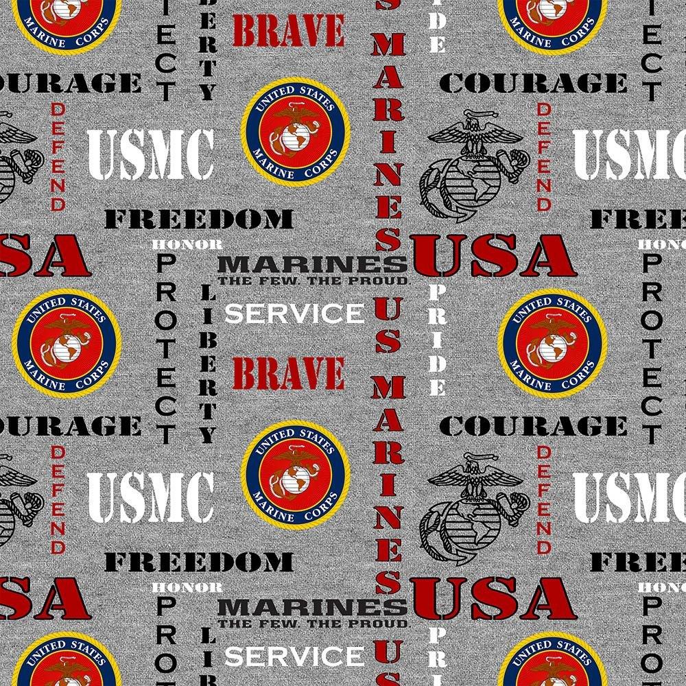 Military Prints - Marines Logo (Heather)