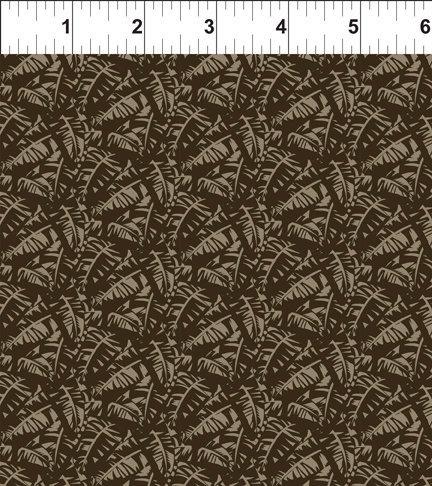 Mini Tropicals - Leaf Tonal (Brown)
