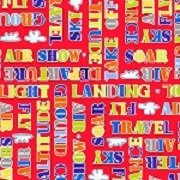 Air Show - Words (Red)