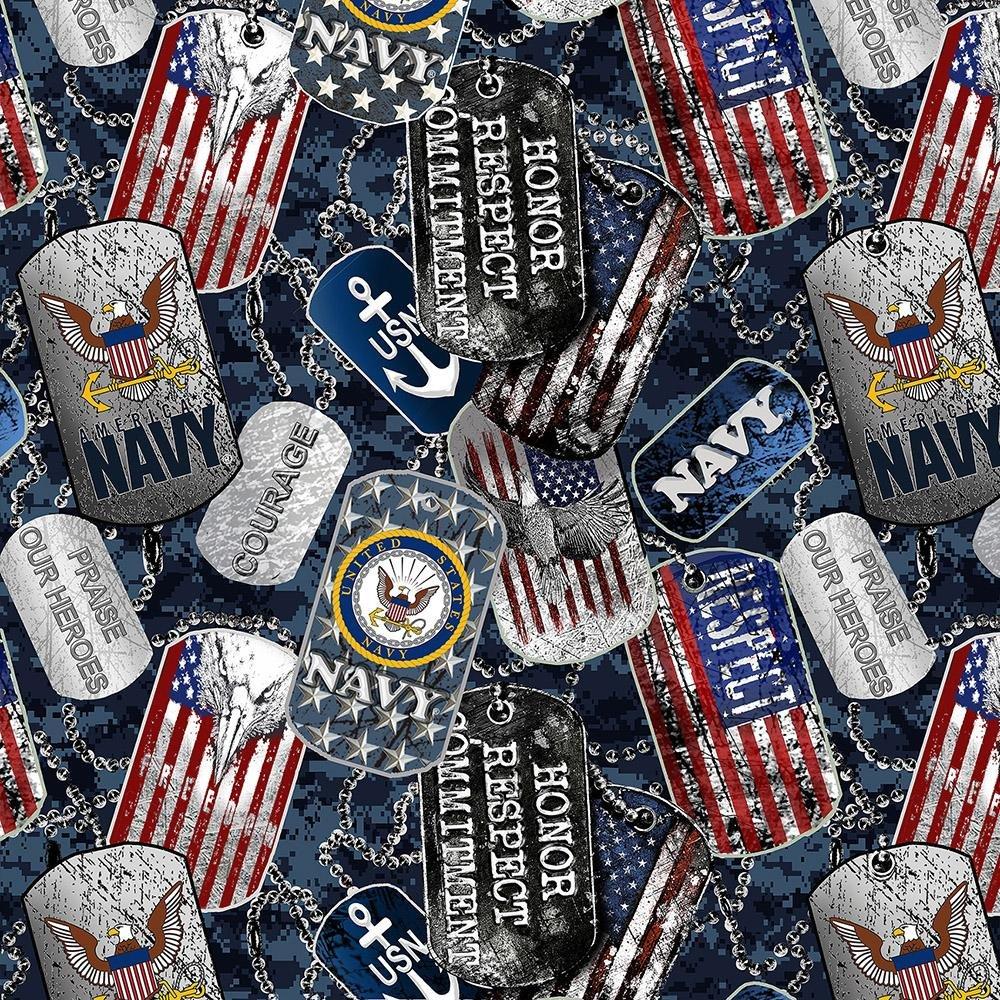 Military Prints - Navy Dog Tags