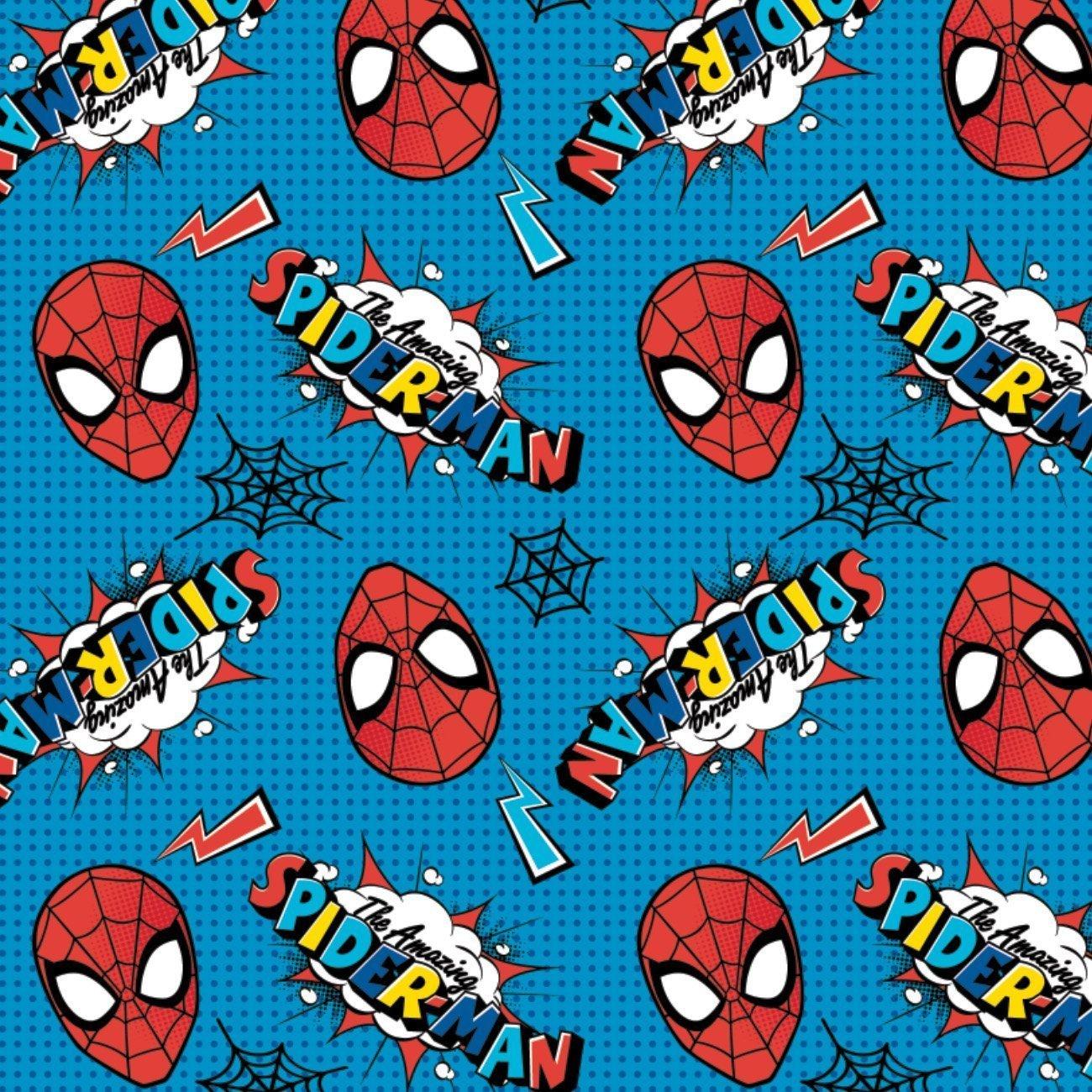 Marvel Comics - Spiderman Logo and Head Toss (Blue)