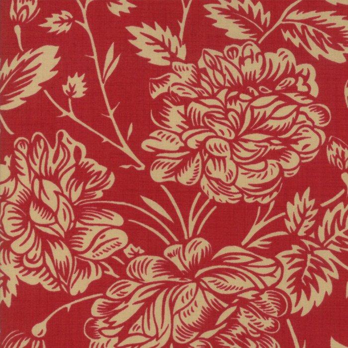 La Vie En Rouge - Large Floral (Rouge)