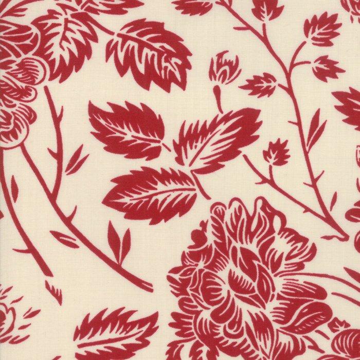 La Vie En Rouge - Large Floral (Pearl/Rouge)