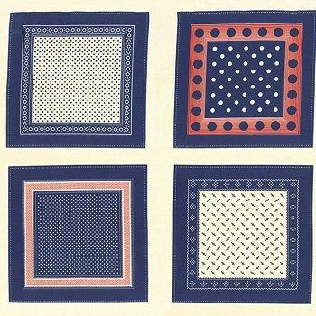Polka Dots & Paisleys - PANEL (Blue/Red)