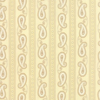 Polka Dots & Paisleys - Stripes (Cream)
