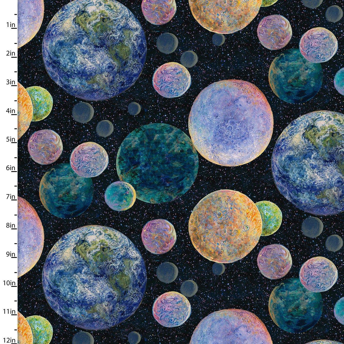 Celestial Journey - Planets (Black)