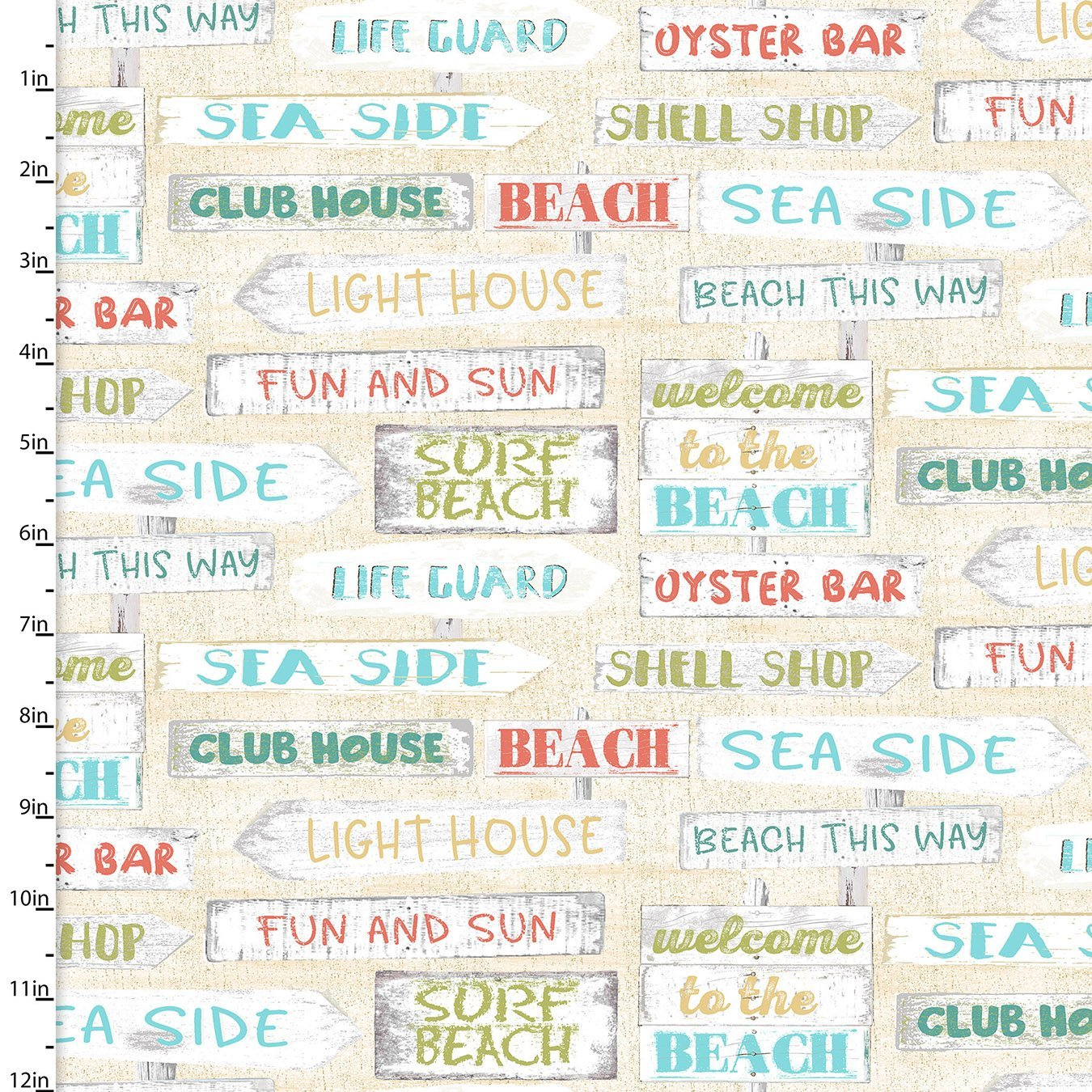 Beach Travel - Signs (Cream)