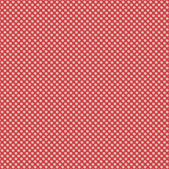Katie Jane - Tiny Flower Dots (Daisy Red)